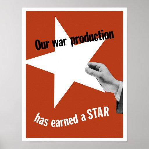 Vår krigproduktion har tjänat en stjärna affischer