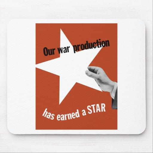 Vår krigproduktion har tjänat en stjärna musmatta
