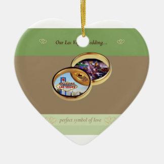 Vår Las Vegas bröllopprydnad Hjärtformad Julgransprydnad I Keramik