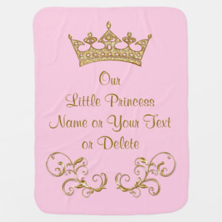 Vår lite Princess Behandla som ett barn Filt
