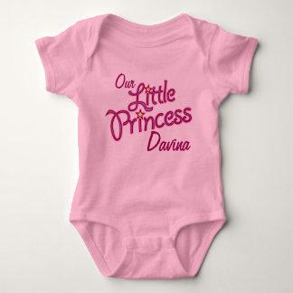 Vår lite Princess namngav flickaskjorta Tee Shirts