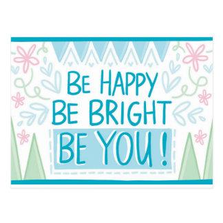 Var ljus, var lycklig, var dig - som är inspirera vykort