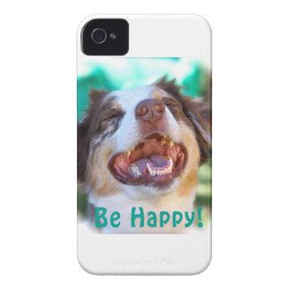 Var lycklig!   Australian shepherd iPhone 4 Skal
