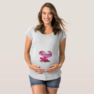 Var lycklig, molnet, rosa hjärta t-shirts
