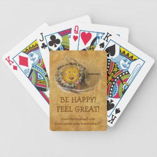 Var lycklig som leker kort! spelkort
