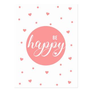 Var lycklig vykort