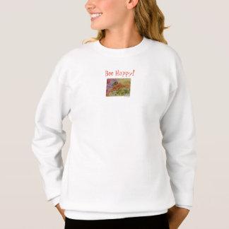 Var lyckliga blom- konstflicka tröja