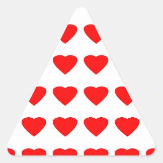 Var min jGibney för valentinhjärtor 36Red Transp Triangelformat Klistermärke