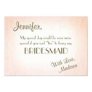 Var min sötrodnad för brudtärna | 12,7 x 17,8 cm inbjudningskort