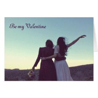 Var min valentin (lesbisk/bisexuell person) hälsningskort