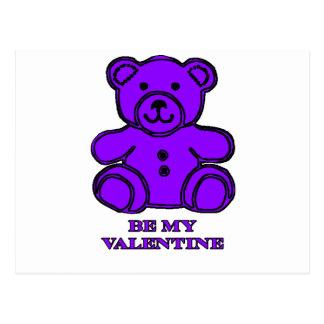 Var min valentinbjörnlilor den MUSEUMZazzle gåvan Vykort