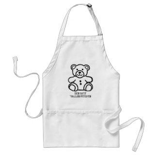 Var min valentinbjörnvit de MUSEUMZazzle gåvorna Förkläde
