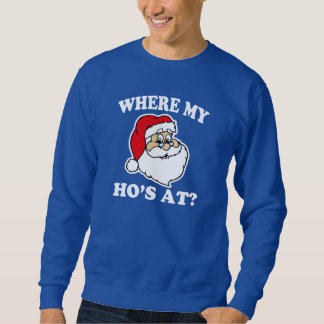 Var mitt hos på? rolig Santa jultröja Långärmad Tröja