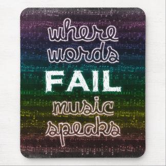Var ordkuggningen, musik talar Mousepad Mus Mattor