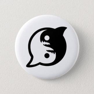 Var på fred med hajarna klämmer fast knäppas standard knapp rund 5.7 cm