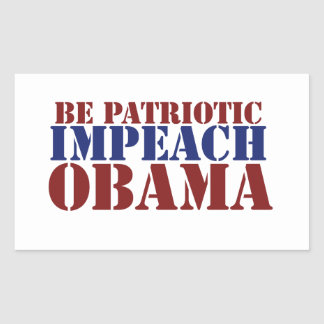Var patriotisk IMPEACH OBAMA Rektangulärt Klistermärke