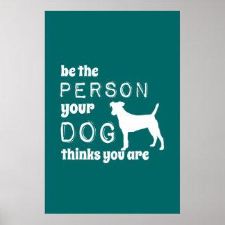 Var personen dina hundfunderare som du är poster