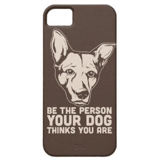var personen dina hundfunderare som du är iPhone 5 skydd