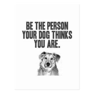 Var personen dina hundfunderare som du är vykort