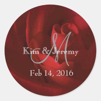 Vår romantiska spara för kärlek datera runt klistermärke