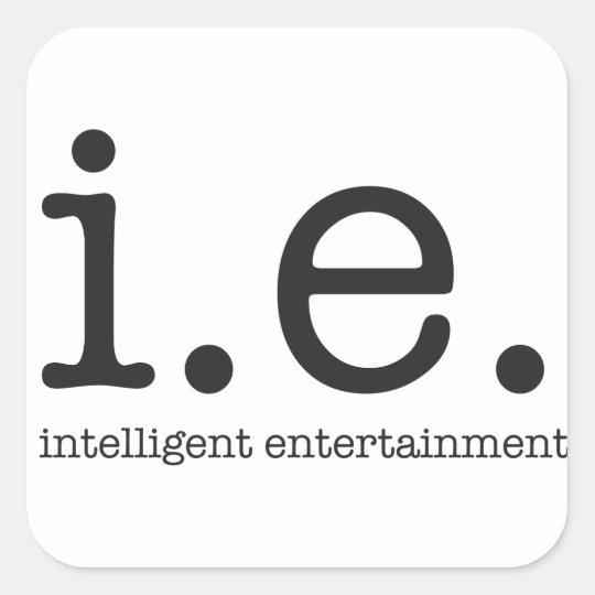 Vår särskiljande logotyp fyrkantigt klistermärke