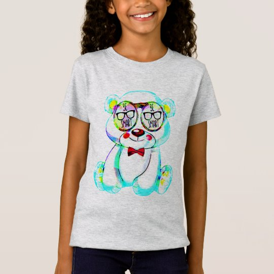 var smart ungar för exponeringsglasnallet-skjorta tee shirts