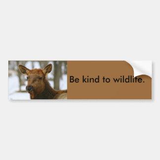 Var snäll till djurlivbildekalet