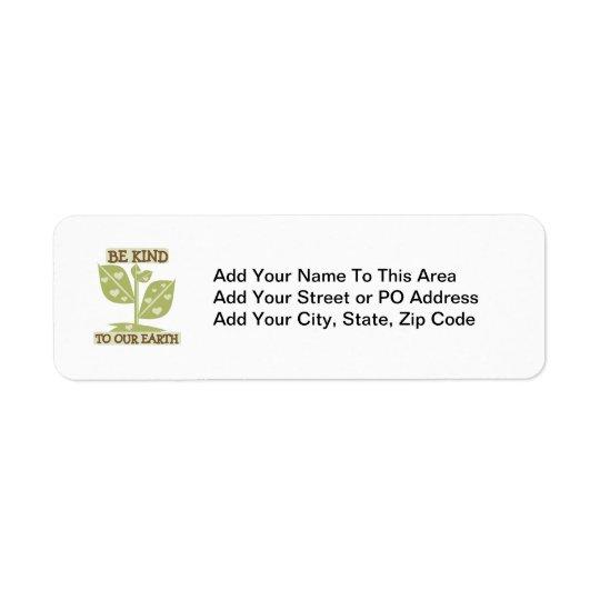 Var snäll till våra jordT-tröja och gåvor Returadress Etikett