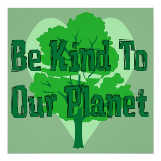 Var snäll till vårt planet poster