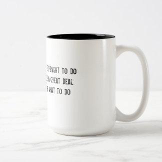 Var stark Två-Tonad mugg