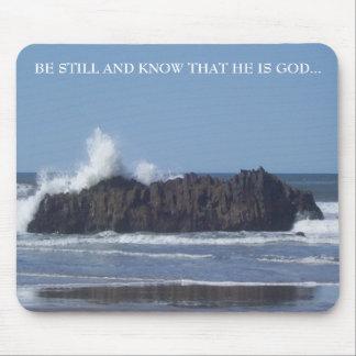 Var Stillbild-Vet att han är Gud-Musen vadderar Musmatta
