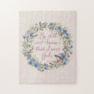 Var stillbilden och vet - Psalm46:10 Pussel