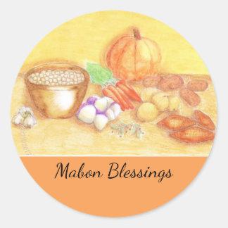 Var tacksam för den grönsakMabon skördefesten Runt Klistermärke