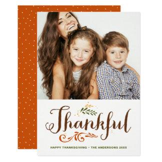 Var tacksam nyckfull fotohappy thanksgiving II 12,7 X 17,8 Cm Inbjudningskort