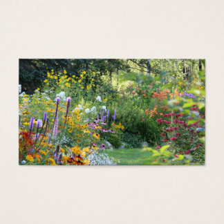 Var tre trädgårdar möter visitkort