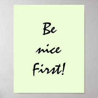Var trevlig första poster