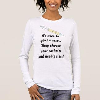 Var trevlig till sjuksköterskor tee shirt
