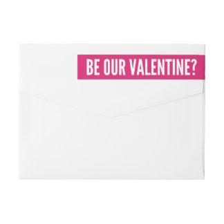 Var våra moderna rosor för valentin   etikettband
