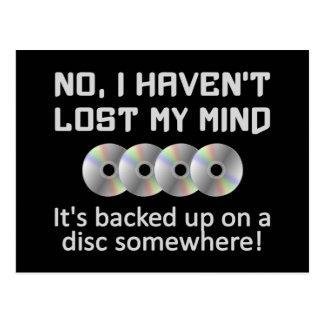 Vara besvärad på en diskettvykort vykort