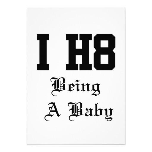 vara en bebis kort för inbjudningar