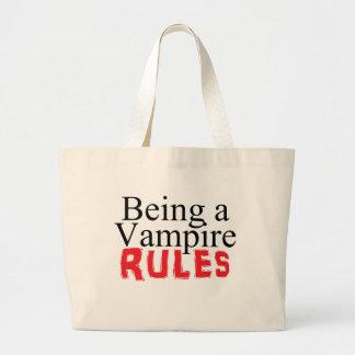Vara en vampyr härskar jumbo tygkasse