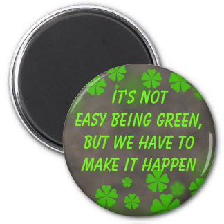 vara grön magnet magnet rund 5.7 cm