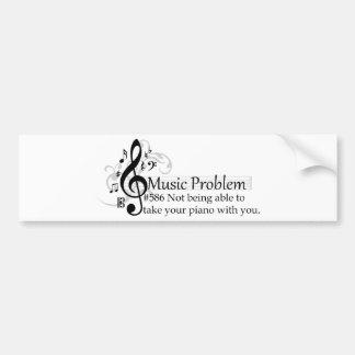 Vara inte kompetent att ta ditt piano med dig bildekal