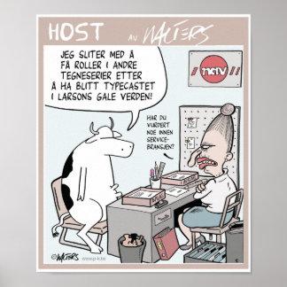 """""""VARA VÄRD"""" Larson som kon på jobbet centrerar Print"""