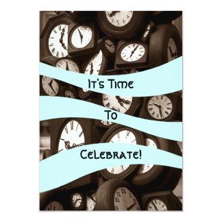 Vara värd pensionen som det är Time som festar 12,7 X 17,8 Cm Inbjudningskort