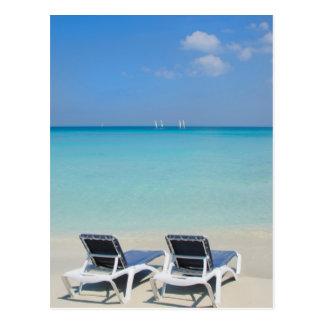 Varadero Kuba. Sand- och strandstolar Vykort