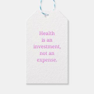 Vård- är en investering… presentetikett