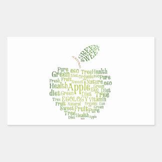 Vård- grön Eco vänskapsmatch Rektangulärt Klistermärke