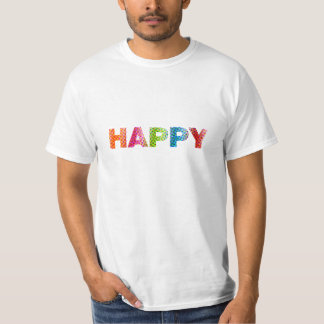 """""""Värderar lycklig"""" t-skjortan T-shirts"""