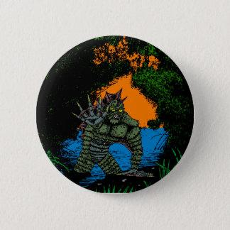 Varelsen från den svart lagunen knäppas variant standard knapp rund 5.7 cm